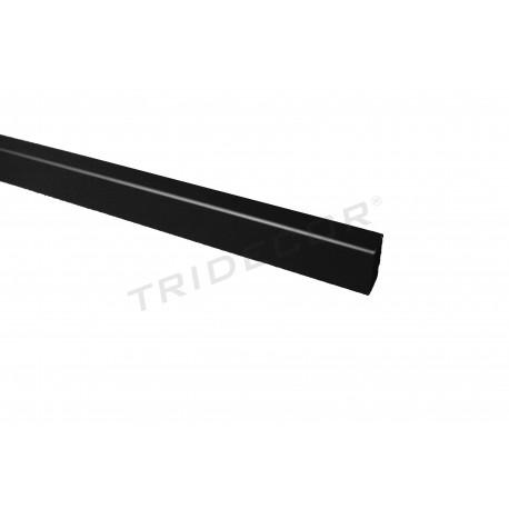 006208 Barra negra rectangular. Tridecor