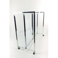 EXHIBITOR GONDOLA WITH WHEELS 150X130X67 CM
