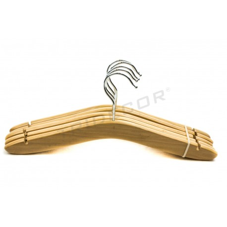 HANGER CHILD WOODEN 5UDS, 34 CM