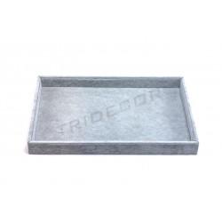盘子珠宝灰色天鹅绒35X24X3厘米