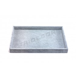 TRAY FOR JEWELRY VELVET GREY 35X24X3 CM