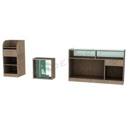 Conjunto de mobiliario oak claro, tridecor