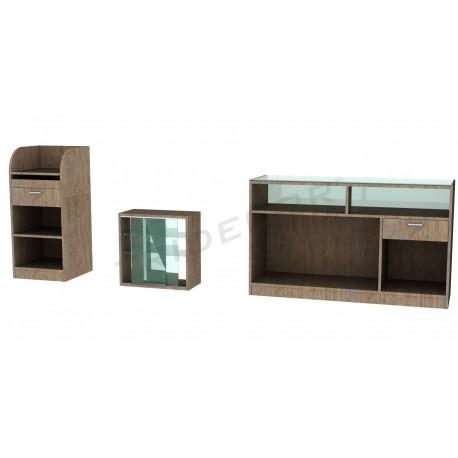 Conjunto de mobiliário oak claro, tridecor
