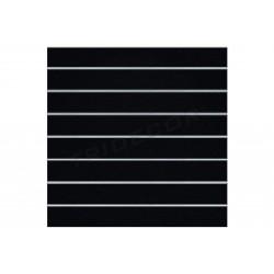 Painel de lamas preto fosco, 7 guias. 120x120 cm Tridecor