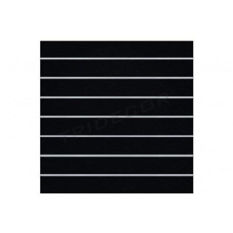Panel de lámina negro mate, 7 guías. 120x120 cm Tridecor