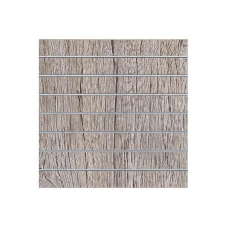 Pannello a doghe di legno di quercia o, 7 guide. 120x120 cm Tridecor