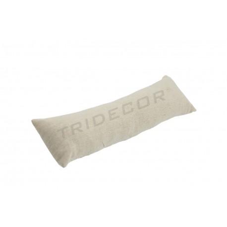 Almohadilla pulseras tela lino beige 30x7x5 cm, tridecor
