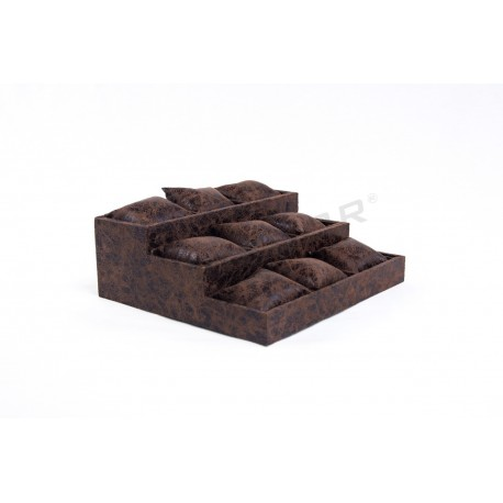 EXHIBITOR CUSHIONING, SYNTHETIC LEATHER BROWN, 3 HEIGHTS