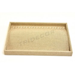 TRAY COSTUME JEWELLERY, LINEN THICK 35X24X3 CM