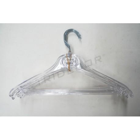 Cabide infantil transparente 31 cm 5 unidades