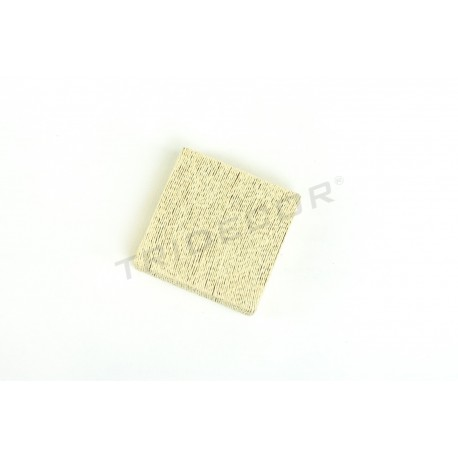 SQUARE BASE, COVERED IN ROPE BEIGE