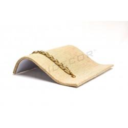 Base para pulseras, lino grueso 20x17x5 cm, tridecor