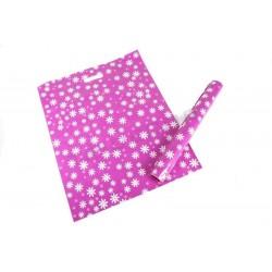 塑料袋的背景紫红色和附图的雏菊,并增强处理50X60 100厘米