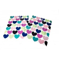 BAG HANDLE DIE CUT HEARTS 100 UNITS 50X60 CM