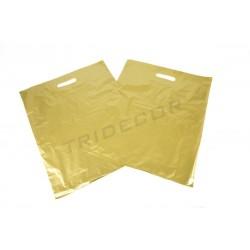 Bolsas asa troquelada 40x50 cm dorado 100 unidades Tridecor