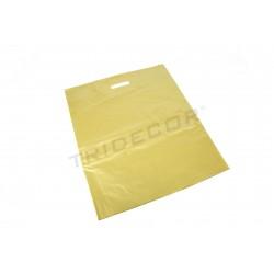 BAG OF PLASTIC GOLD 25X35CM - 100 UNITS