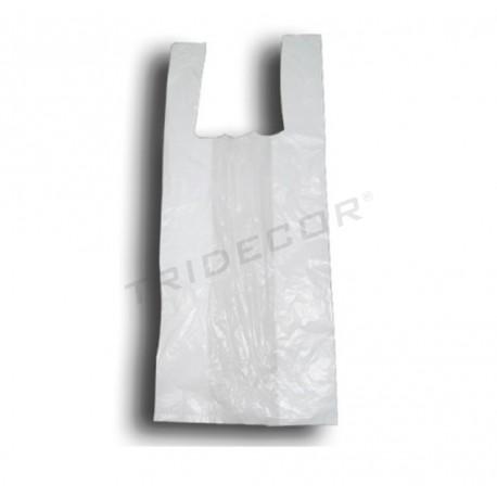 Bolsa camiseta blanca 60x50, 200 unidades. tridecor
