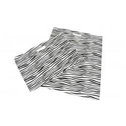 SACCHETTO di PLASTICA CON la MANIGLIA tagliata di STAMPA ZEBRA 50x60CM -100 UNITÀ