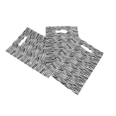 塑料袋里斑马纹与模切处理的25x35CM100个单位