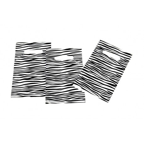 塑料袋里斑马纹与模切处理的16X25厘米100个单位