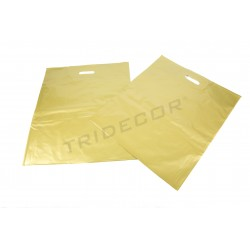BAG OF PLASTIC GOLD 35X45CM - 100 UNITS