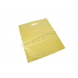 Bolsas asa troquelada 35x45 cm Dorado 100 unidades Tridecor