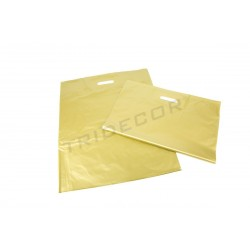 BAG GOLD DIE CUT HANDLE 50X60CM 100 UNITS