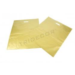 Bolsas asa troquelada 50x60 cm Dorado 100 unidades Tridecor