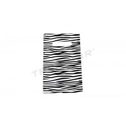 BAG ZEBRA PRINT 35X45CM 50 UNITS, REINFORCED HANDLE