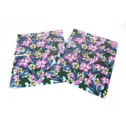BAG FLORAL PRINT,50U DIE CUT HANDLE 50X60 CM