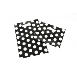 BAG POLKA DOT BLACK BACKGROUND 25X35 CM 100 UNITS