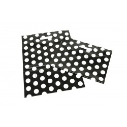 BAG POLKA DOT BLACK BACKGROUND 35X45 CM 50 UNITS
