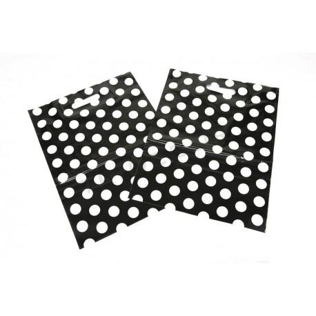 袋圆点黑色的背景35X45 50厘米的单位