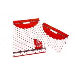 010307 Bolsa de plástico corazones rojos 35x45 cm. Tridecor