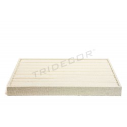 TRAY FOR RINGS LINEN BEIGE 35X24X3 CM