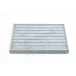 TRAY FOR RINGS GREY VELVET 35X24X3 CM