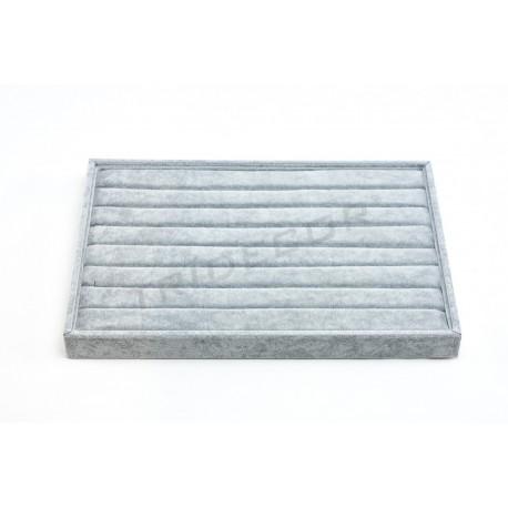 托盘环灰色天鹅绒35X24X3厘米