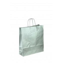 袋子的纸浆色银22X10X27CM25个单位