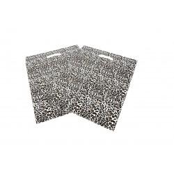 PLASTIC BAG, LEOPARD-PRINT WITH die cut HANDLE 50x60 CM 100U