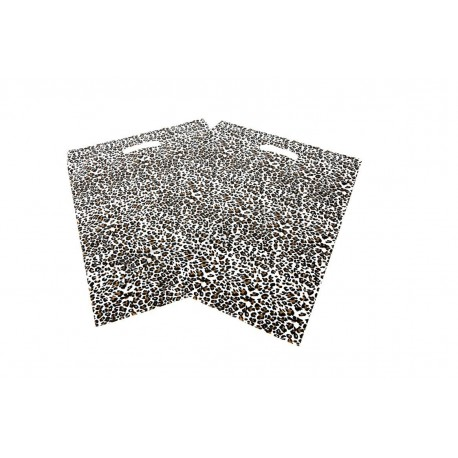 Bolsa de plástico estampado de leopardo 50x60cm. 100 unidades, tridecor