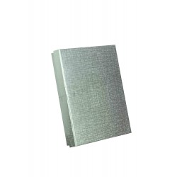 Caja para joyería plata, 16.5x12.5x3 cm. 4 uds. tridecor