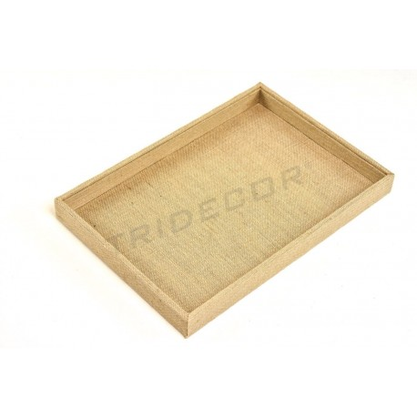 TRAY OF JEWELRY, LINEN THICK 35x24x3 cm