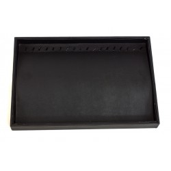 TRAY OF JEWELRY, IMITATION LEATHER BLACK