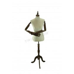 Bust woman fabric linen articulated arms