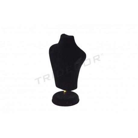 Busto para joyeria, terciopelo negro