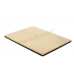 Base joyería, lino grueso/polipiel 40x30x1.5 cm, tridecor