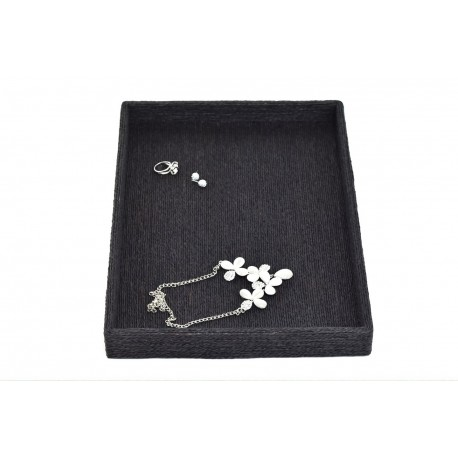 盘子珠宝,黑色的绳子