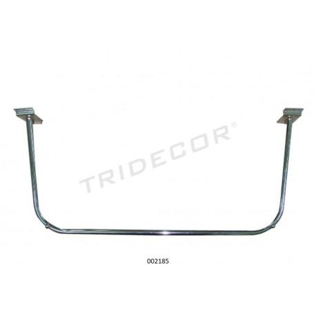 Barra de penjador U-forma de tauler de lames 90x30 cm Tridecor