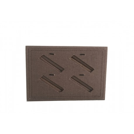 TRAY SLOTTED JEWELRY, LINEN BROWN