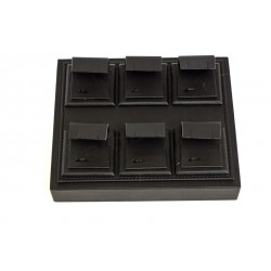 TRAY FOR JEWELRY WITH BLACK SYNTHETIC LEATHER